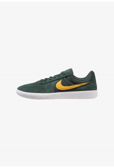 Nike TEAM CLASSIC - Baskets basses midnight green/yellow ochre/white liquidation