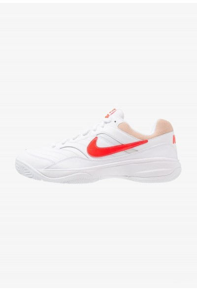 Nike COURT LITE - Baskets tout terrain white/bright crimson/bio beige liquidation