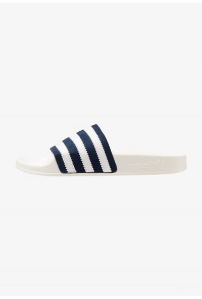 Adidas ADILETTE - Mules collegiate navy/footwear white/offwhite pas cher