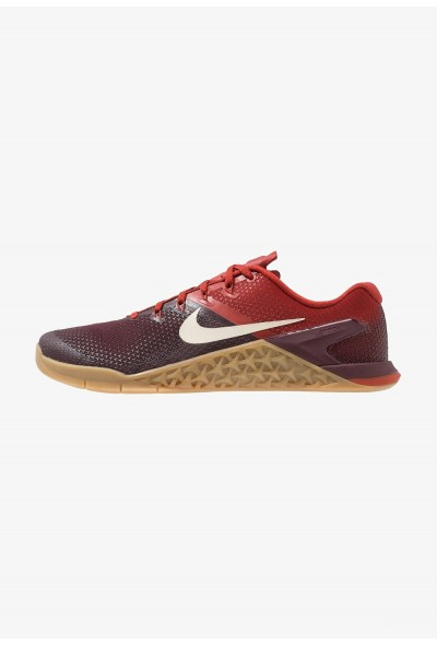 Nike METCON 4 - Chaussures d'entraînement et de fitness burgundy crush/light cream/dune red/light brown liquidation