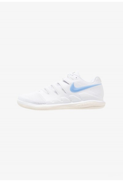 Black Friday 2020 | Nike AIR ZOOM VAPOR X CPT - Chaussures de tennis en salle white/university blue/light cream/metallic gold liquidation