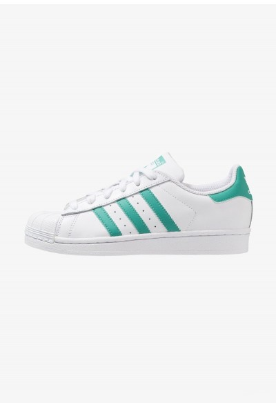 Adidas SUPERSTAR - Baskets basses footwear white/true green pas cher
