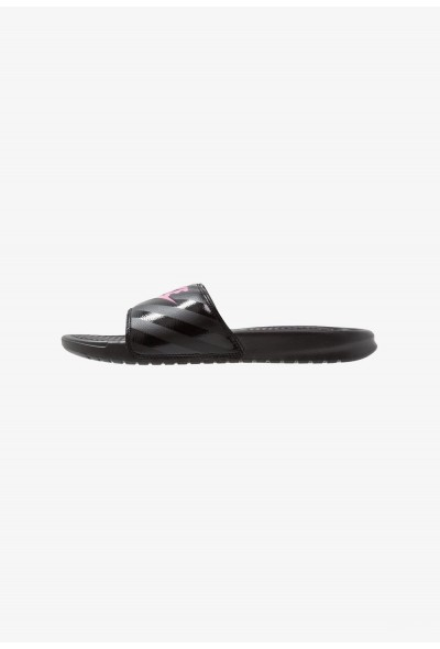 Black Friday 2020 | Nike BENASSI JDI - Mules black/vivid pink liquidation
