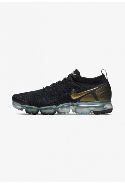 Black Friday 2020 | Nike AIR VAPORMAX FLYKNIT - Chaussures de running neutres - black/metallic silver/multi black/metallic silver/multi-colour liquidation
