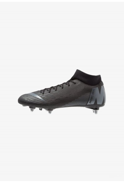 Nike MERCURIAL 6 ACADEMY SGPRO - Chaussures de foot à lamelles black/anthracite/light crimson liquidation