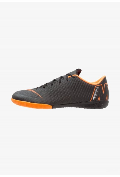 Nike MERCURIAL VAPORX 12 ACADEMY IC - Chaussures de foot en salle black/total orange/white liquidation