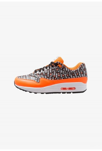 Nike AIR MAX 1 PREMIUM - Baskets basses black/total orange/white liquidation