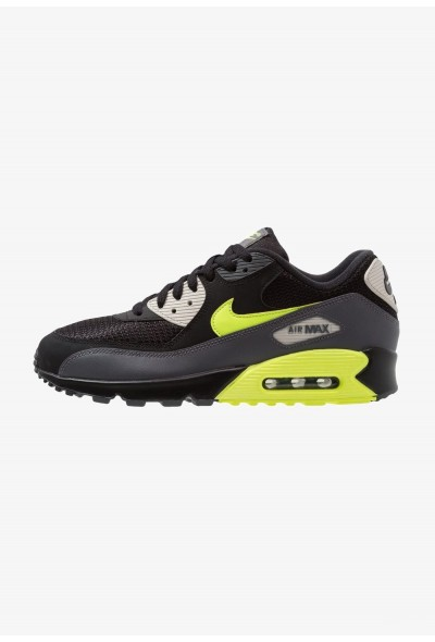 Nike AIR MAX 90 ESSENTIAL - Baskets basses dark grey/volt/black/light bone liquidation