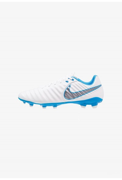 Nike LEGEND 7 ACADEMY FG - Chaussures de foot à crampons white/chrome/blue hero liquidation