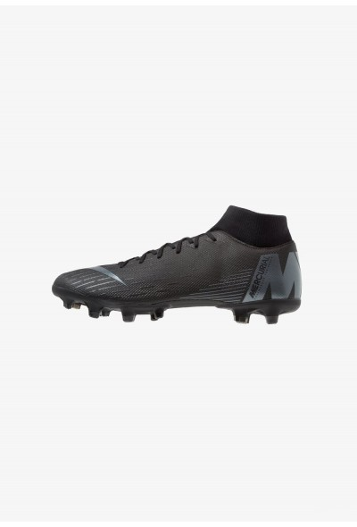 Nike MERCURIAL 6 ACADEMY MG - Chaussures de foot à crampons black/anthracite/light crimson liquidation