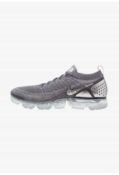 Nike AIR VAPORMAX FLYKNIT - Chaussures de running neutres dark grey/chrome/cool grey/wolf grey liquidation