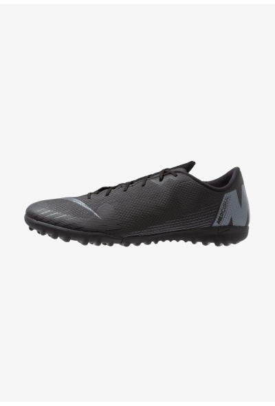Nike MERCURIAL VAPORX 12 ACADEMY TF - Chaussures de foot multicrampons black liquidation
