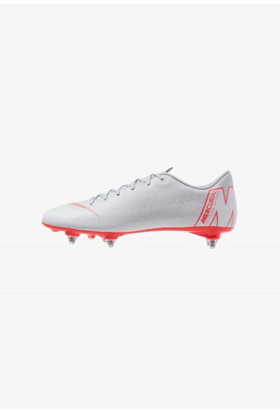 Nike MERCURIAL VAPOR 12 ACADEMY SG PRO - Chaussures de foot à lamelles wolf grey/light crimson/pure platinum/metallic silver liquidation