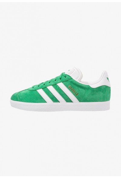 Adidas GAZELLE - Baskets basses green/white/gold metallic pas cher