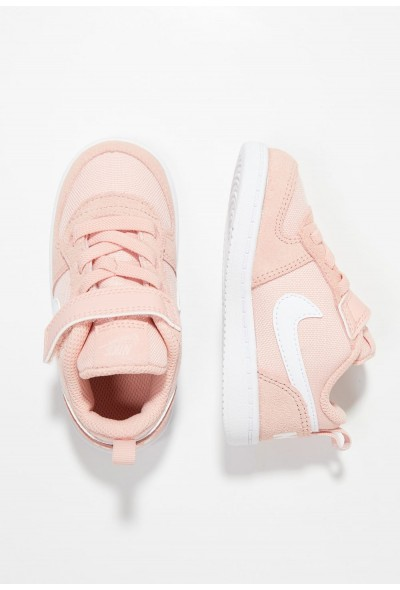 Nike COURT BOROUGH LOW - Chaussures premiers pas coral stardust/white liquidation