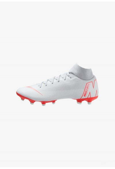 Nike MERCURIAL 6 ACADEMY MG - Chaussures de foot à crampons wolf grey/light crimson/pure platinum/metallic silver liquidation