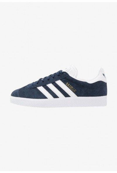 Adidas GAZELLE - Baskets basses collegiate navy/white/gold metallic pas cher