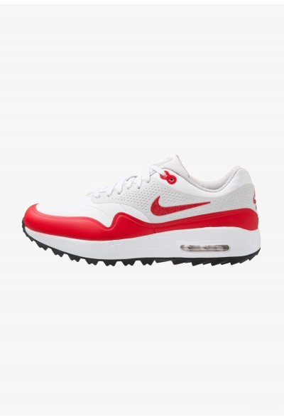 Nike AIR MAX 1 - Chaussures de golf white/university red/neutral grey/black liquidation