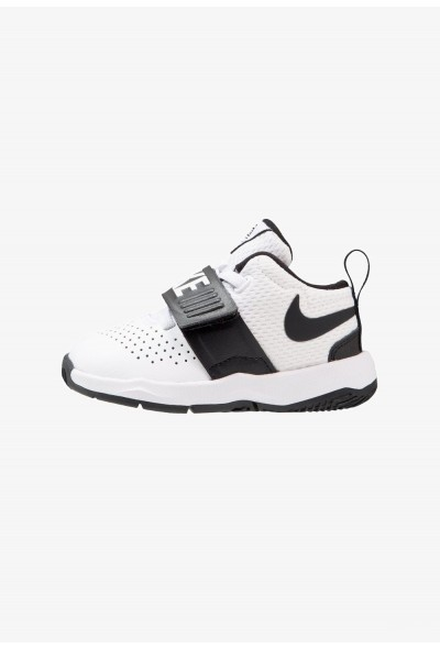 Nike TEAM HUSTLE D 8 - Chaussures de basket white/black liquidation