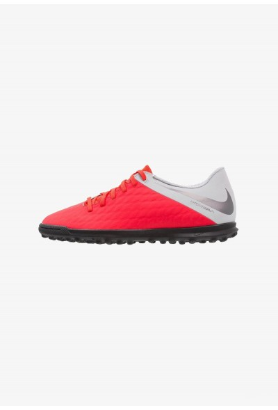 Nike PHANTOMX 3 CLUB TF - Chaussures de foot multicrampons light crimson/metallic dark grey/wolf grey liquidation