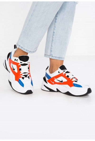 Nike M2K TEKNO - Baskets basses summit white/black/team orange/mountain blue liquidation