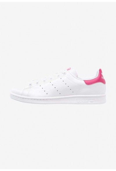 Adidas STAN SMITH - Baskets basses white/bold pink pas cher