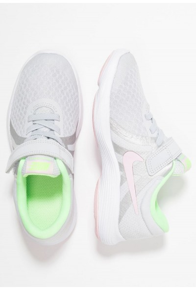 Nike REVOLUTION 4 - Chaussures de running neutres pure platinum/pink foam/platinum tint/lime blast liquidation