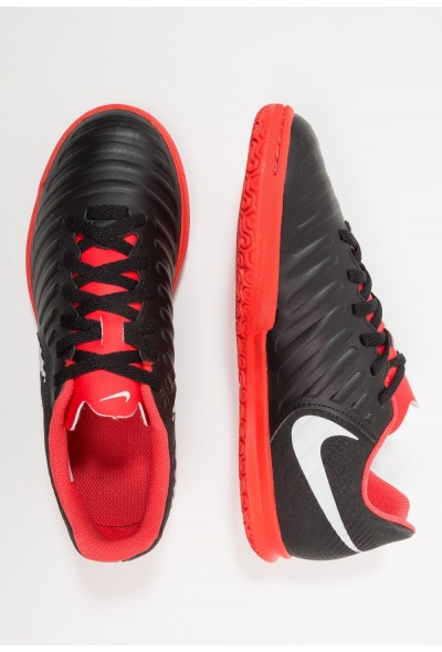 Nike TIEMPO LEGENDX 7 CLUB IC - Chaussures de foot en salle black/pure platinum/light crimson liquidation