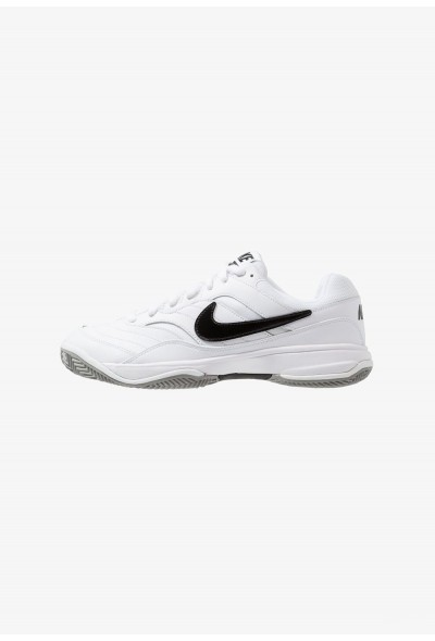 Nike COURT LITE CLAY - Chaussures de tennis sur terre battue white/black/medium grey liquidation