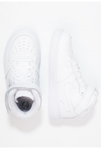 Nike NIKE FORCE 1 MID (TD) - Baskets montantes white liquidation