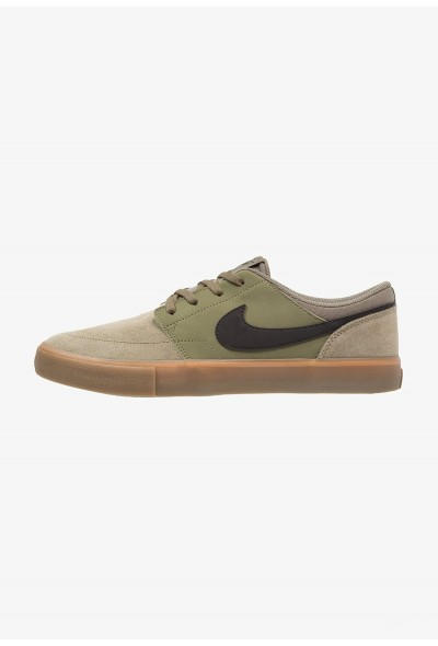 Nike SOLARSOFT PORTMORE  - Baskets basses medium olive/black/medium brown liquidation