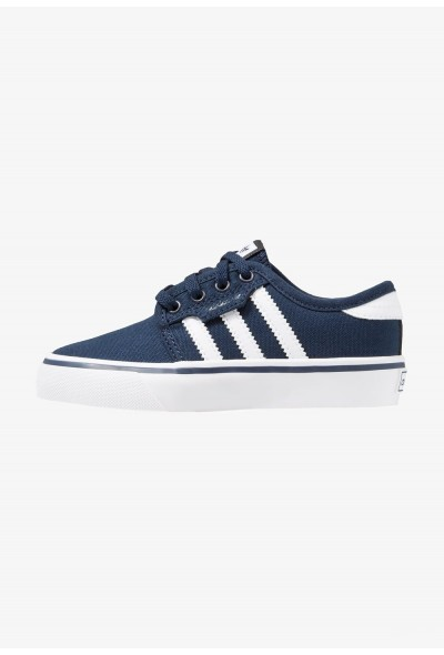 Adidas SEELEY - Baskets basses collegiate navy/footwear white pas cher