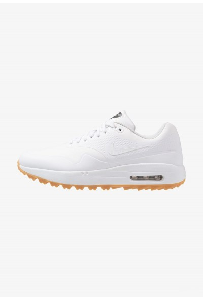 Nike AIR MAX 1 - Chaussures de golf white/light brown liquidation