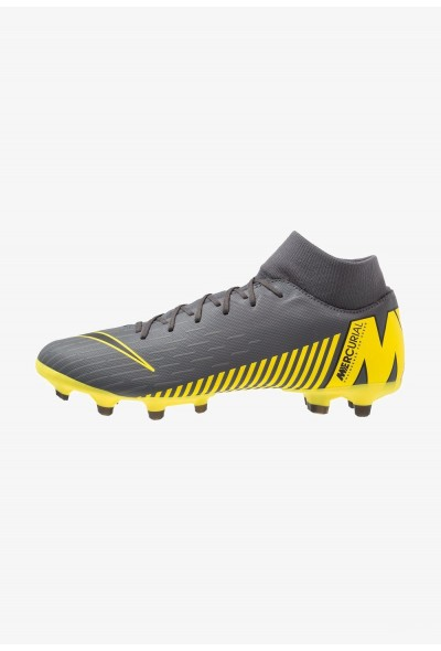 Nike MERCURIAL 6 ACADEMY MG - Chaussures de foot à crampons dark grey/black/opti yellow liquidation