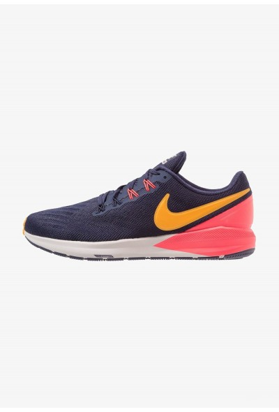 Nike AIR ZOOM STRUCTURE  - Chaussures de running stables blackened blue/orange peel/flash crimson/moon particle/black liquidation