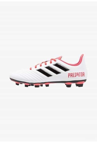 Black Friday 2020 | Adidas PREDATOR 18.4 FXG - Chaussures de foot à crampons footwear white/core black/real coral pas cher