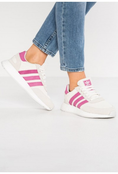 Adidas I-5923 - Baskets basses offwhite/shock pink/grey one pas cher