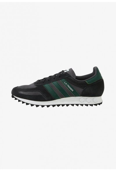 Adidas LA TRAINER - Baskets basses carbon/green/grey five pas cher
