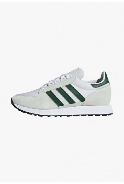 Black Friday 2020 | Adidas FOREST GROVE - Baskets basses white/green/black pas cher