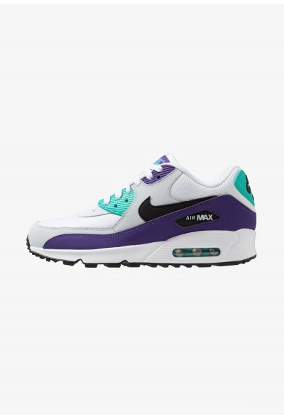 Nike AIR MAX 90 ESSENTIAL - Baskets basses white/black/hyper jade/court purple/pure platinum liquidation