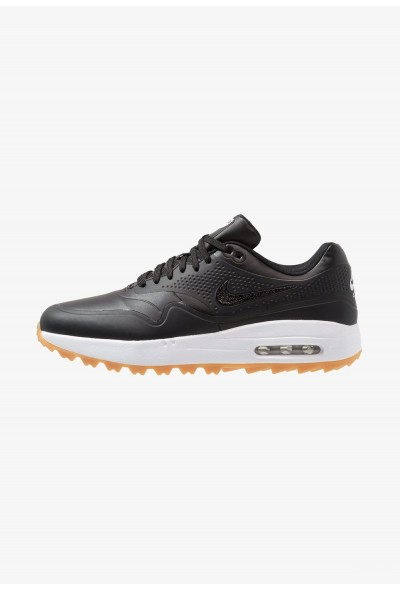 Nike AIR MAX 1 - Chaussures de golf black/light brown liquidation