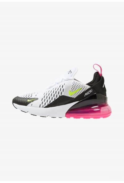Nike AIR MAX 270 - Baskets basses white/volt black/laser fuchsia liquidation