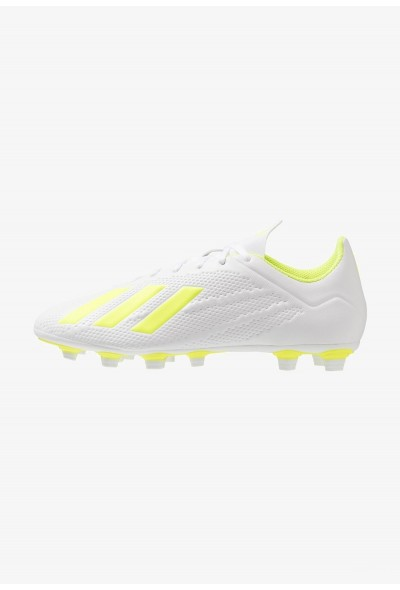 Adidas X 18.4 FG - Chaussures de foot à crampons footwear white/solar yellow pas cher