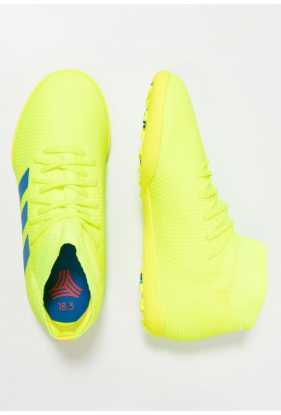 Adidas NEMEZIZ 18.3 TF - Chaussures de foot multicrampons solar yellow/football blue/active red pas cher