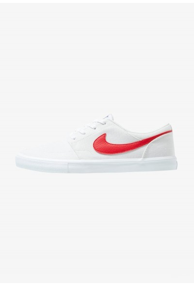 Nike PORTMORE II SS CNVS - Baskets basses vast grey/university red/white/black liquidation