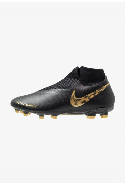 Nike PHANTOM OBRA 3 ACADEMY DF MG - Chaussures de foot à crampons black/metallic vivid gold liquidation