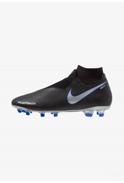 Nike PHANTOM OBRA 3 PRO DF FG - Chaussures de foot à crampons black/metallic silver/racer blue liquidation