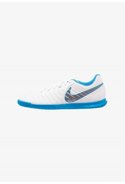Nike TIEMPO LEGENDX 7 CLUB IC - Chaussures de foot en salle white/chrome/blue hero liquidation