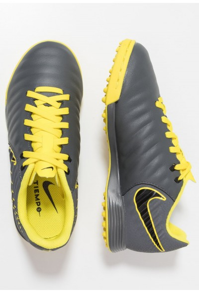 Nike TIEMPO LEGENDX 7 ACADEMY TF - Chaussures de foot multicrampons dark grey/black/opti yellow liquidation