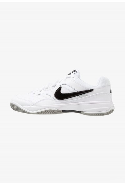 Black Friday 2020 | Nike COURT LITE CLAY - Chaussures de tennis sur terre battue white/black/medium grey liquidation